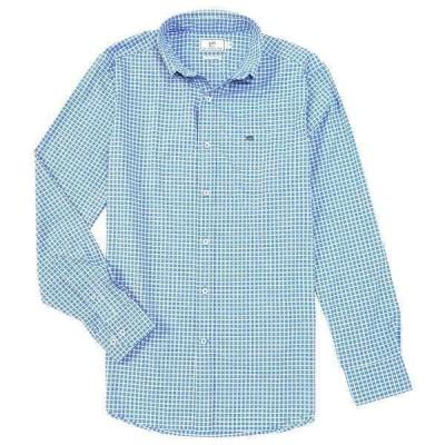 サウザーンタイド メンズ シャツ トップス Intercoastal Guarded Gingham Long-Sleeve Woven Shirt Marina