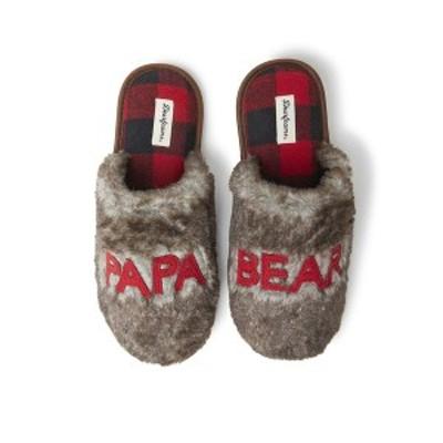 ディアフォームズ メンズ サンダル シューズ Men's Furry Papa Bear Scuff Matching Family Slippers Brown Frost