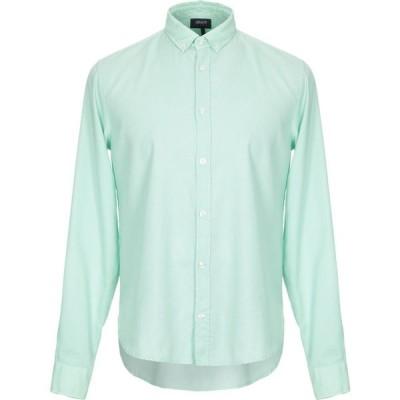 アルマーニ ジーンズ ARMANI JEANS メンズ シャツ トップス solid color shirt Light green