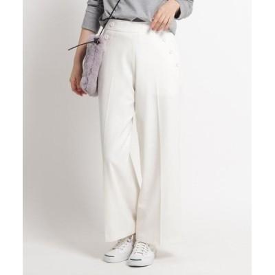 Dessin/デッサン ◆【XS~Lサイズあり、洗える】起毛マリン風ワイドパンツ オフホワイト(003) 03(L)