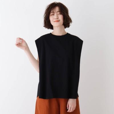 シューラルー SHOO-LA-RUE タックフレアーTシャツ (ブラック)