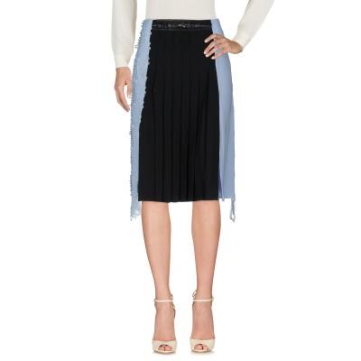 VERSACE 7分丈スカート スカイブルー 40 ナイロン 100% / レーヨン / シルク 7分丈スカート