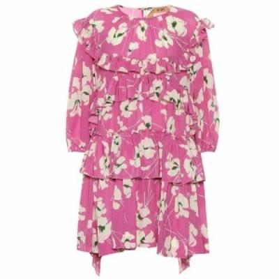 ヌメロ ヴェントゥーノ N21 レディース ワンピース ワンピース・ドレス Printed silk dress pink