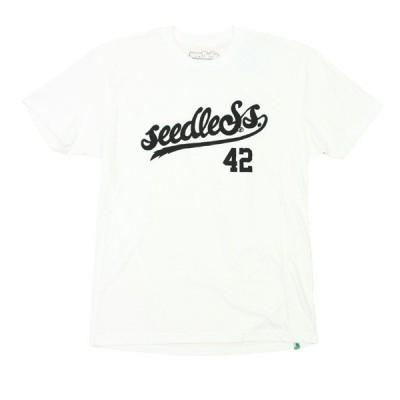 seedleSs.  Tシャツ  SCRIPTO 白   (シードレス)