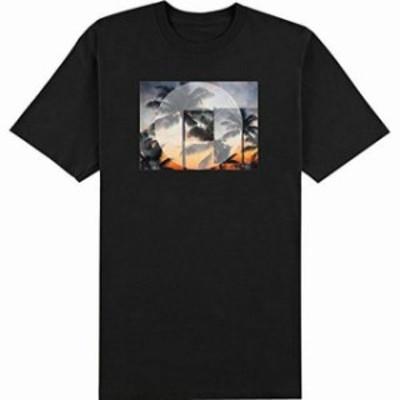 ONeill オニール ファッション トップス ONeill Mens T-Shirt Black Size Medium M Palm Tree Sunset Graphic Tee