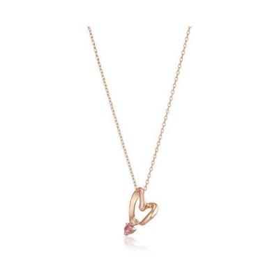 [ウィスプ] ダイヤモンド ピンクトルマリン K10ピンクゴールド ペンダントネックレス DPCWP21466 ピンク (ピンク 小)
