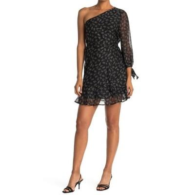 コレクティブコンセプツ レディース ワンピース トップス One-Shoulder A-Line Dress BLACK MULTI
