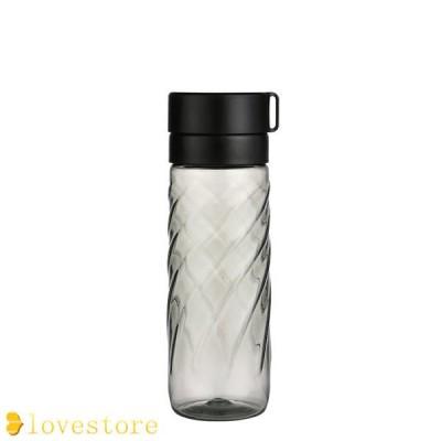水筒 透明 ウォーターボトル 直飲み ボトル 茶こし付き スクリュー スリム ポータブル アウトドア 運動 遠足 登山 自転車 在宅 通勤