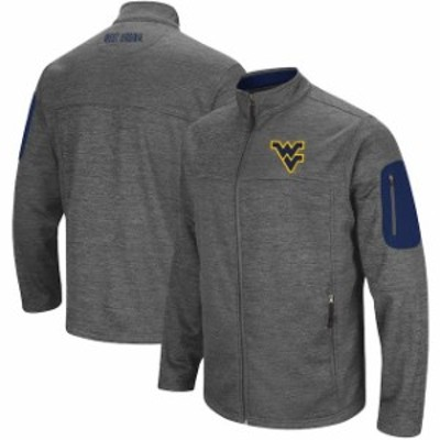 Colosseum コロセウム スポーツ用品  Colosseum West Virginia Mountaineers Heathered Charcoal Big & Tall Anchor Full-Zip