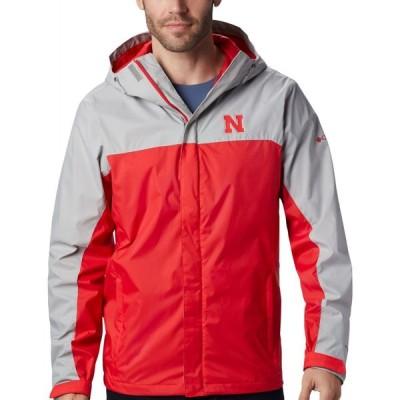 コロンビア Columbia メンズ ジャケット アウター Nebraska Cornhuskers Grey/Scarlet Glennaker Storm Jacket