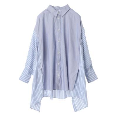 パターンMIXレイヤードシャツ