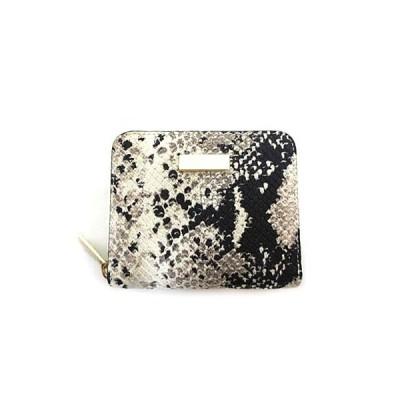 【中古】【美品】FURLA フルラ 小物 財布 コンパクト ラウンドファスナー パイソン型押し 美品