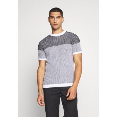 リバーアイランド Tシャツ メンズ トップス MIXED TEE - Print T-shirt - black