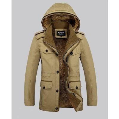 ブルゾン メンズ 裏起毛 ジャケット コート ジャンパー ビジネス フード取り外し可 カジュアル 大きいサイズあり 秋冬ポイント消化オシャレ