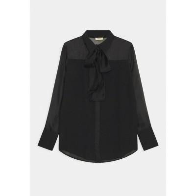 リュージョー シャツ レディース トップス CAMICIA FIOCCO - Button-down blouse - nero