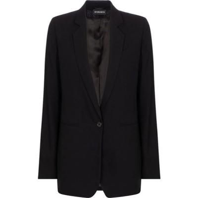 アンドゥムルメステール Ann Demeulemeester レディース スーツ・ジャケット アウター Single-breasted wool blazer Black
