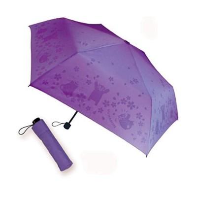 浮き出る傘 くまモン ver. 晴雨兼用 通学通勤用 濡れるとくまモンが浮き出ます (ムラサキ)
