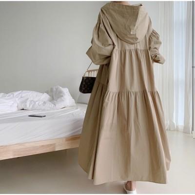 綿麻 ワンピース  ひざ丈 大きいサイズ レディース  韓国ファッション