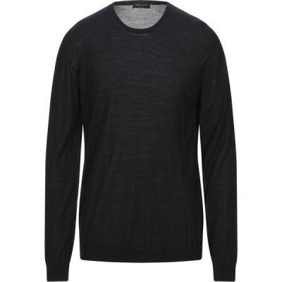 ロベルトコリーナ ROBERTO COLLINA メンズ ニット・セーター トップス Sweater Black