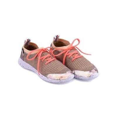 エルスポーツ ラメニットスニーカー ぺたんこ 痛くない 歩きやすい 疲れない レディース ELLE SPORT ESP10642 ピンク