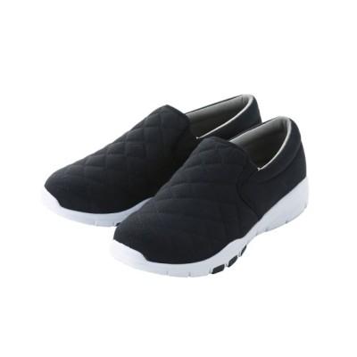 【ゆったり幅】超軽量キルティングスリッポンスニーカー(ワイズ4E) スニーカー・スリッポン, Sneakers