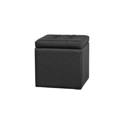 レザースツール ブラック SL-3591BK