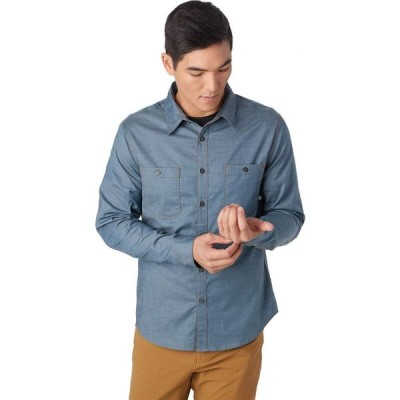 バックカントリー Backcountry メンズ シャツ シャンブレーシャツ トップス Aven Chambray Button - Up Shirt Orion Blue/Buckthorn Brown