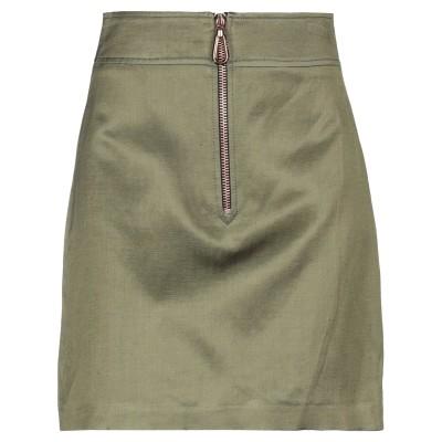 SANDRO ミニスカート ミリタリーグリーン 0 レーヨン 48% / コットン 27% / リネン 25% ミニスカート
