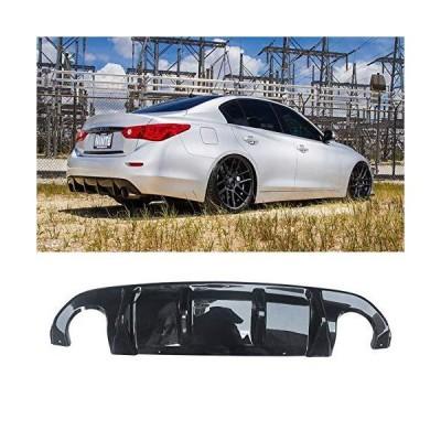 (新品) NINTE Rear Diffuser for 2014-2017 Infiniti Q50/Q50s Carbon Fiber ABS Lower Bumper Lip
