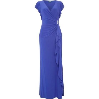 ラルフ ローレン Lauren by Ralph Lauren レディース パーティードレス ワンピース・ドレス Cap Sleeve Gown With Gathered Side Violet