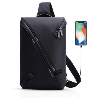 FANDARE 新品ボディーバッグ ワンショルダーバッグ 斜め掛け レジャーボディバッグ 盗難防止リュックサック USB重電ポート付き アウトドア 旅行 メンズ 防水 ポ
