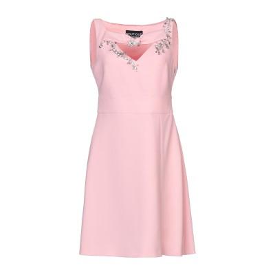BOUTIQUE MOSCHINO ミニワンピース&ドレス ピンク 44 トリアセテート 70% / ポリエステル 30% ミニワンピース&ドレス