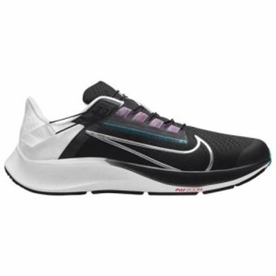 (取寄)ナイキ メンズ シューズ エア ズーム ペガサス 38 フライイーズ Nike Men's Shoes Air Zoom Pegasus 38 Flyease Black Silver Whit