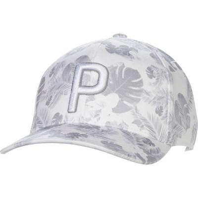 プーマ 帽子 アクセサリー メンズ PUMA Men's P 110 Floral Snapback Golf Hat Black
