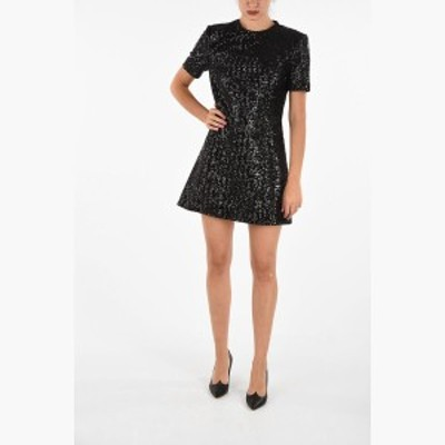 SAINT LAURENT PARIS/イヴ サンローラン ドレス Black レディース 秋冬2019 Sequined Shirt Dress dk