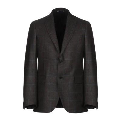 TOMBOLINI テーラードジャケット ダークブラウン 50 バージンウール 100% テーラードジャケット