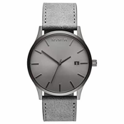 腕時計  MVMT クラシック メンズ ミニマリスト ビンテージ 腕時計  アナログ 日付 Adult モノクロ