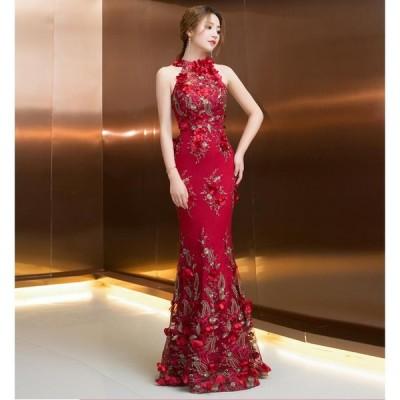 マーメイドドレス ロングドレス カラードレス パーティードレス 10代 20代 30代40代 ワンピース ウエディングドレス お呼ばれ 二次会 披露宴 謝恩会 成人式