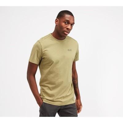 ジャックウルフスキン Jack Wolfskin メンズ Tシャツ トップス essential t-shirt Khaki