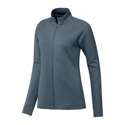 アディダス コート アウター レディース Textured Layer Jacket Legacy Blue