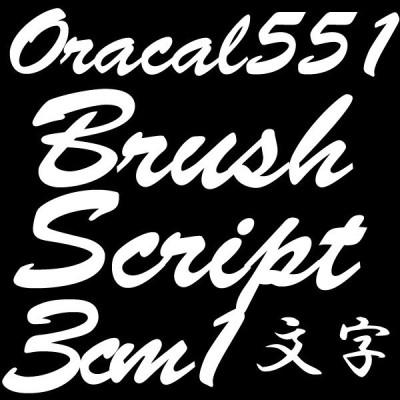 3センチ BrushScript オラカル551 デカール 切文字シール カッティングシール カッティングステッカー マーキングフィルム カッティングデカール