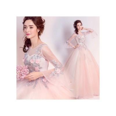 ウエディングドレスオフショルダータイプ花柄ロングドレスマーメイドライン豪華なレースドレス宴会花嫁