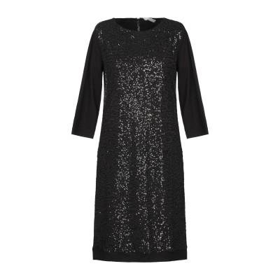 LE TRICOT PERUGIA ミニワンピース&ドレス ブラック XS レーヨン 94% / ポリウレタン 6% ミニワンピース&ドレス