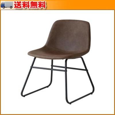 Vino Chair ブラウン CH-3285BR ▼合皮とスチールをミックスしたオシャレ椅子
