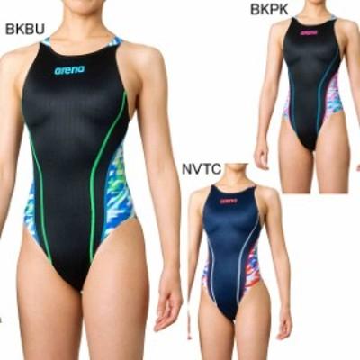 アリーナ 水泳 水球 競泳用水着  レース用 レディース リミック クロスバック FINA承認モデル  arena FAR-0545WL