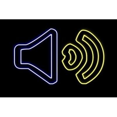 【ネオン】スピーカー【2】【すぴーかー】【拡声器】【音量】【ボリューム】【イラスト】【アイコン】【ネオンライト】【電飾】【LED】【