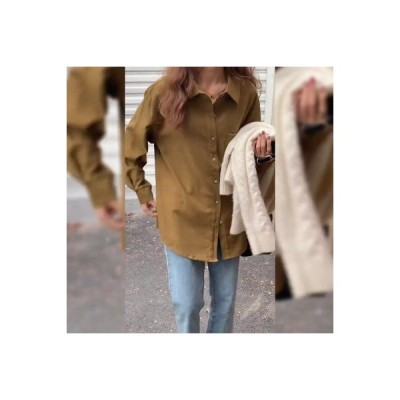 【送料無料】~ 秋冬 韓国風 ルース 長袖シャツ 女 デザイン 感 小 何でも似合う シャツ   346770_A64564-6694177