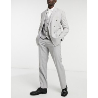 トップマン メンズ カジュアルパンツ ボトムス Topman slim suit pants in gray Grey