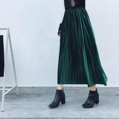 スカート プリーツスカート ロング プリーツスカート大きいサイズ カラープリーツスカート ロングプリーツスカート ウエストゴム