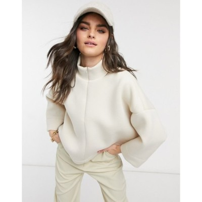 ヴェロモーダ レディース シャツ トップス Vero Moda sweater with half zip in cream